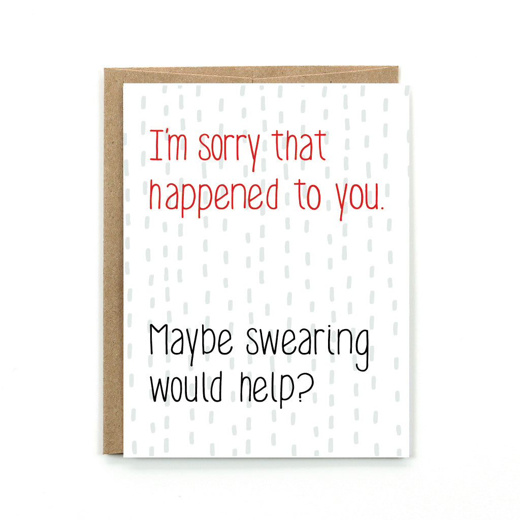 Maybe Swearing Would Help Card