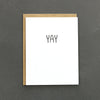 This Minimal Yay card, makes the perfect card for celebrating engagements.