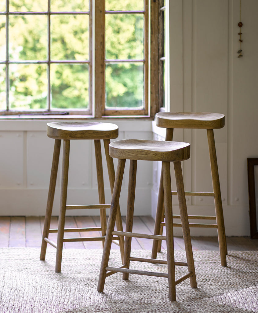 Bailey Oak Stool