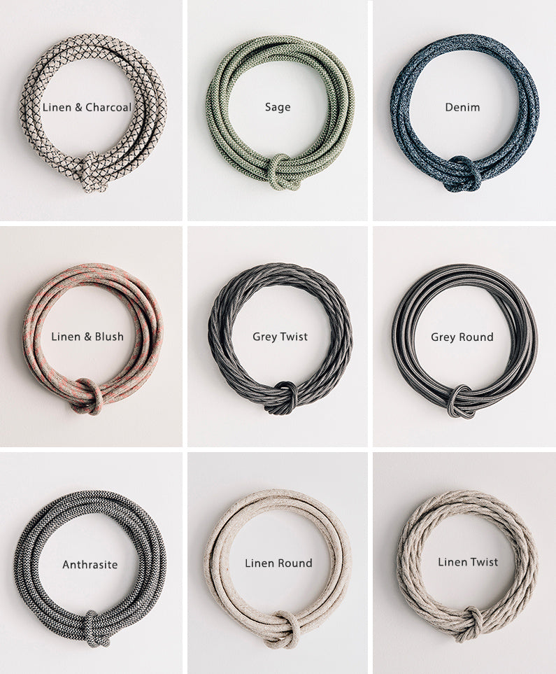 Your Choice of 11 Fabric Cables | Olive & the Fox