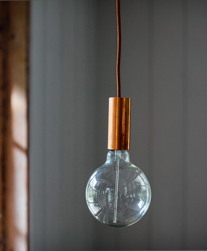 Copper Bulb Pendant