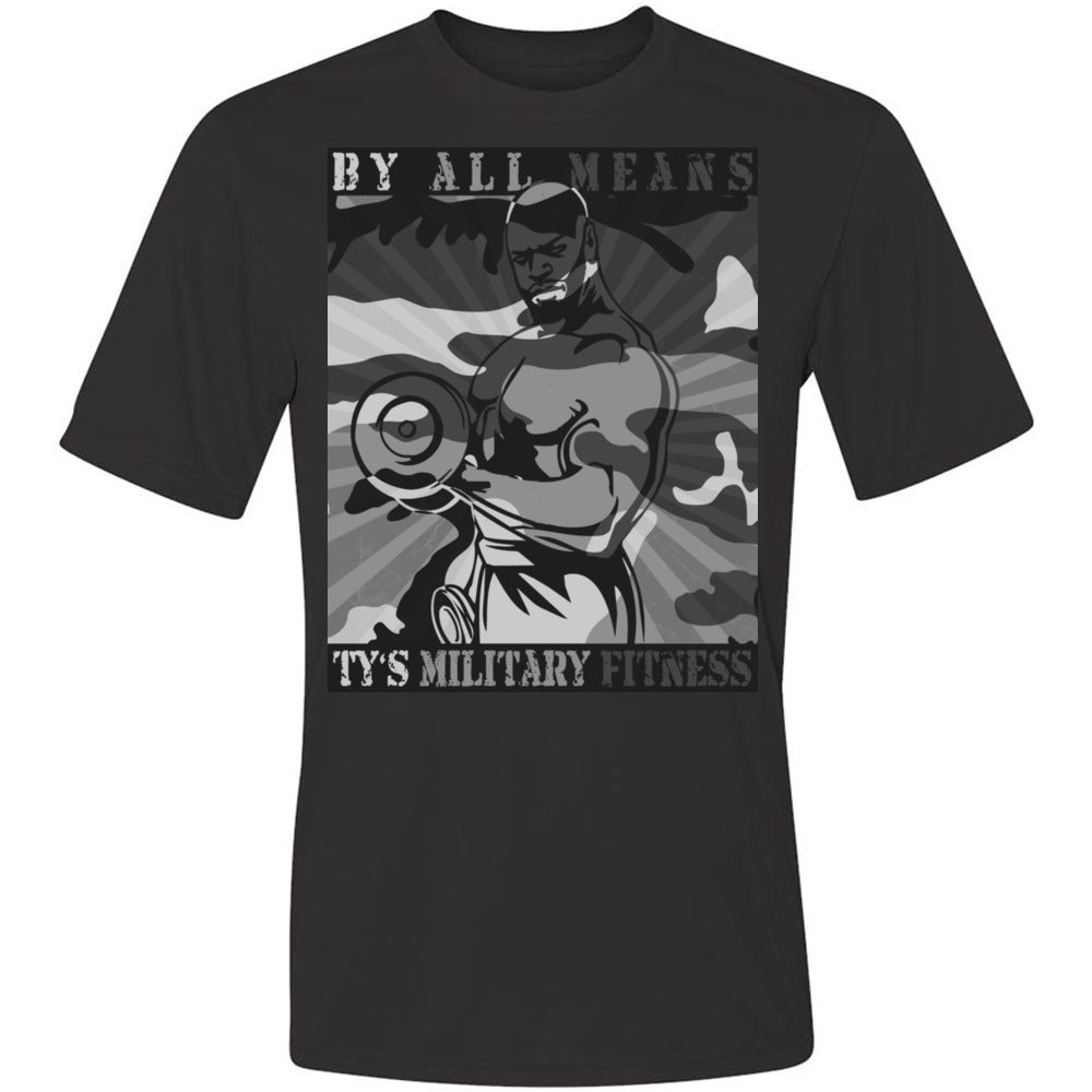 """By All Means"" Men's Cool-Dri Performance T-Shirt (Grey Design)"