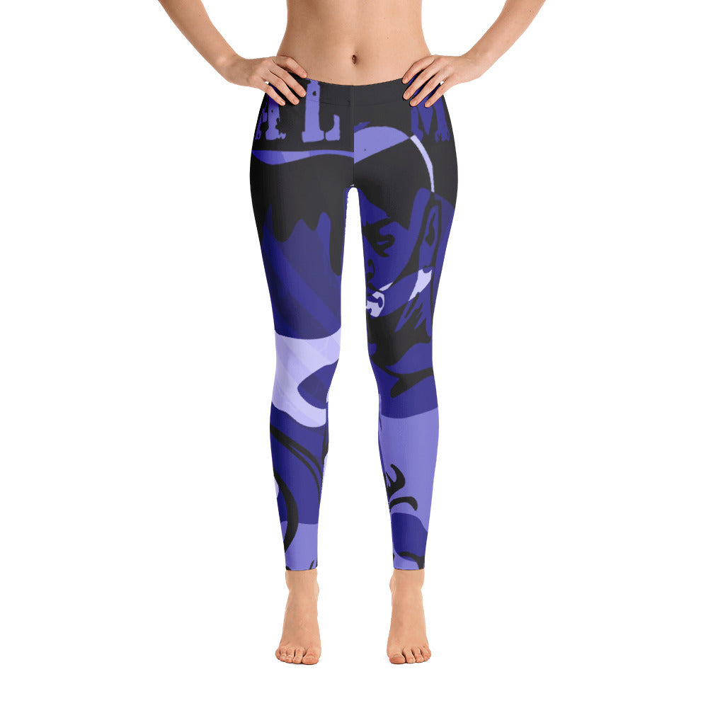 """By All Means"" Collection Cameo Leggings (Blue Design)"