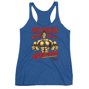 """Drinkin"" With Da/ 49ers"" Women's Racerback Tank"