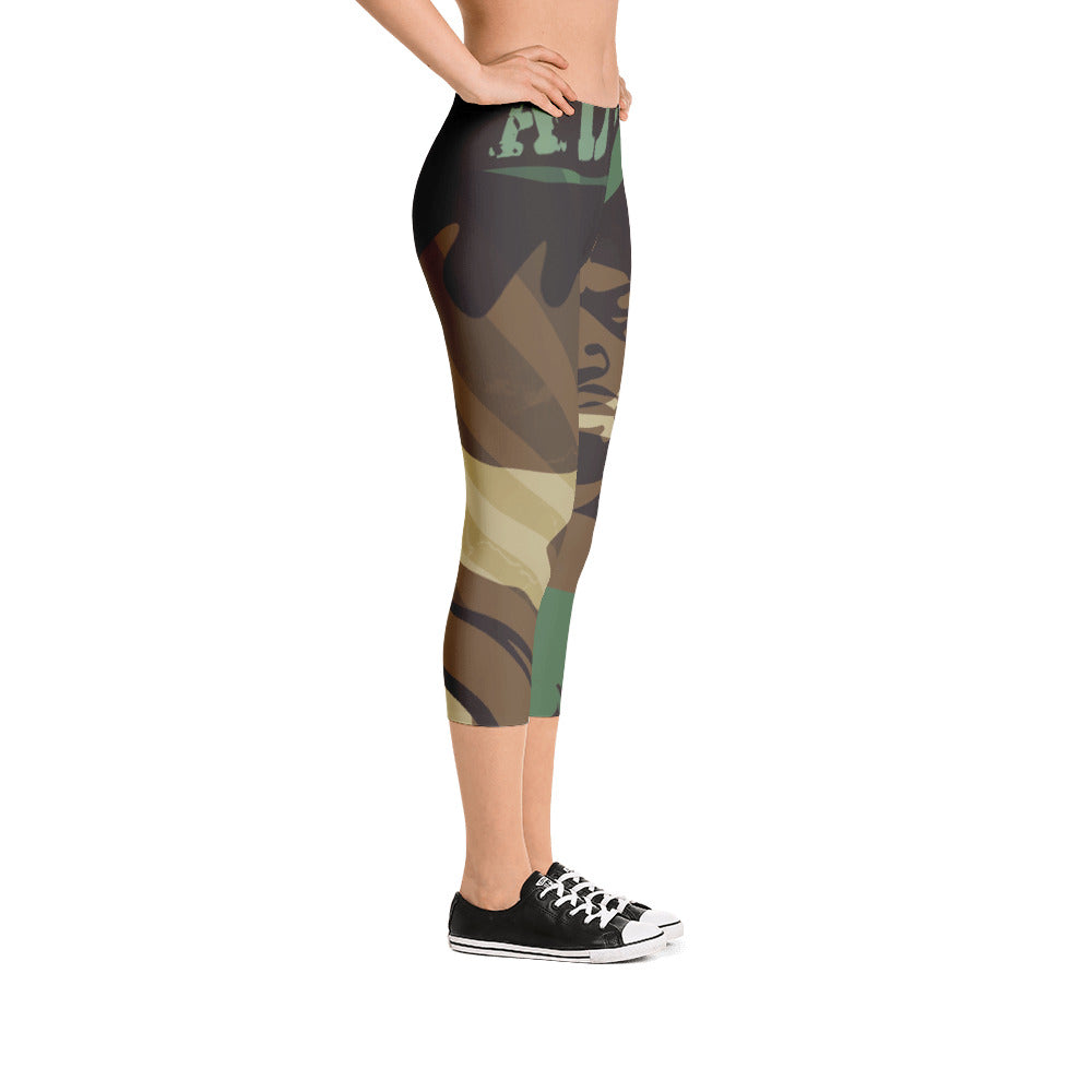 """By All Means"" Collection Capri Leggings (Cameo Design)"
