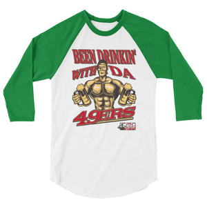 """Drinkin' With Da 49'ers""  Men's 3/4 sleeve Shirt"