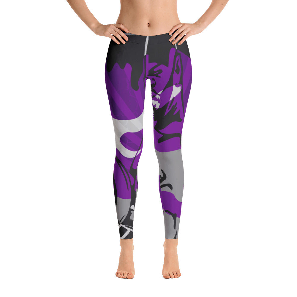 """By All Means"" Collection Cameo Leggings (Purple Design)"