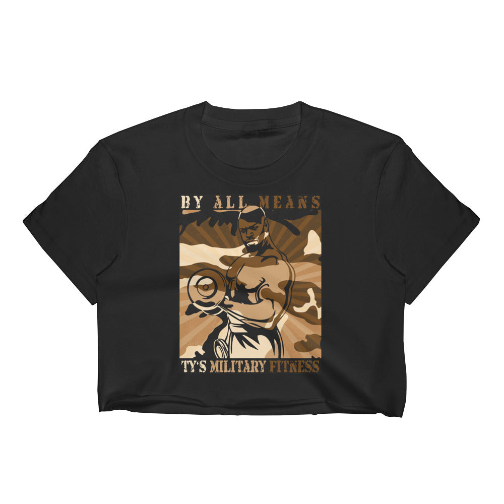 """ By All Means"" Collection Crop Top (Brown)"