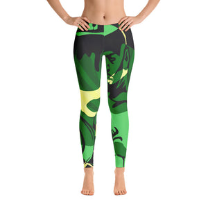"""By All Means"" Collection Cameo Leggings (Green Design)"