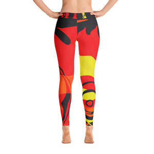 """By All Means"" Collection Cameo Leggings (Red Design)"