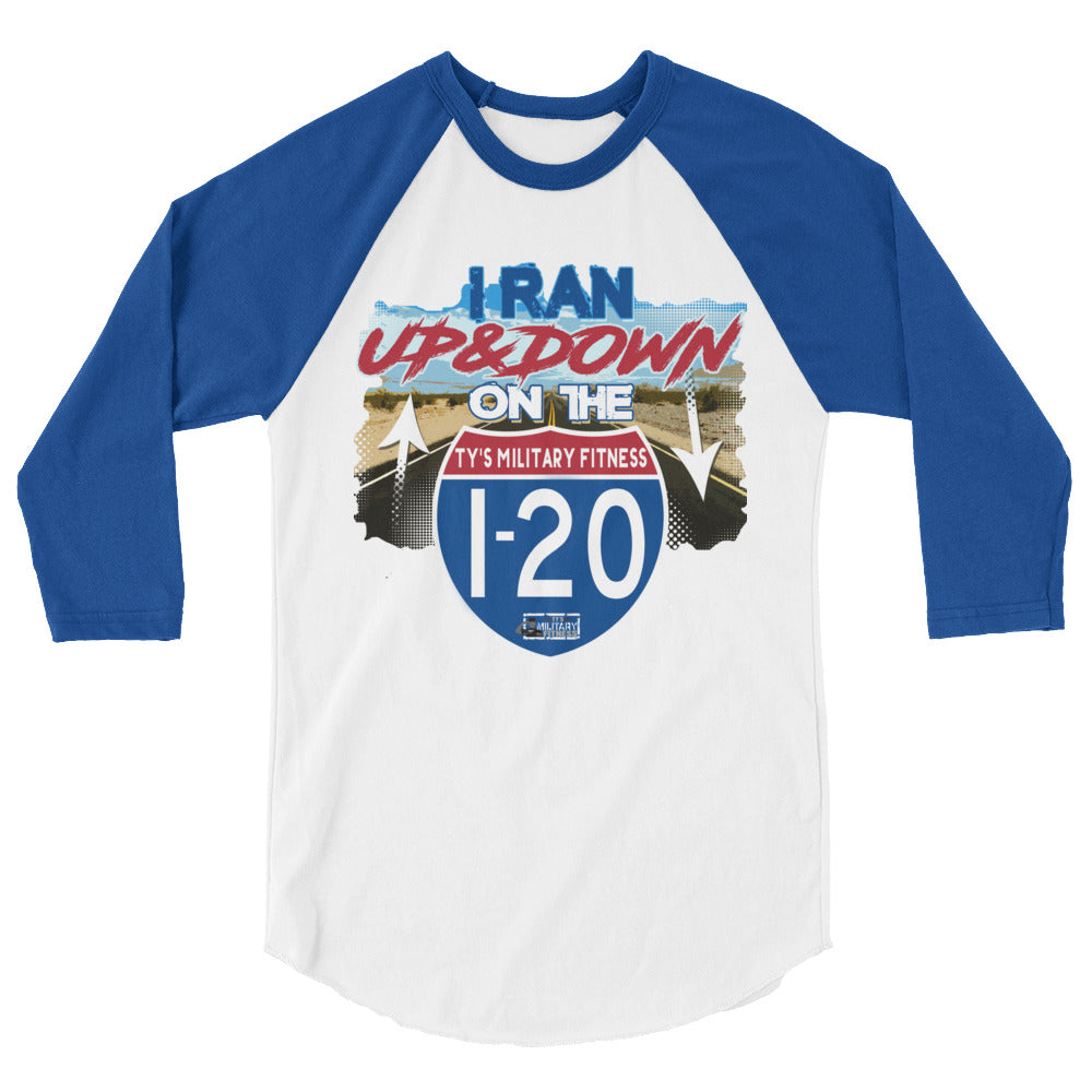 """I-20 Regimen"" Men's Fitness 3/4 Sleeve Shirt"