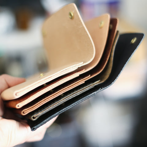 wallets with raw edges