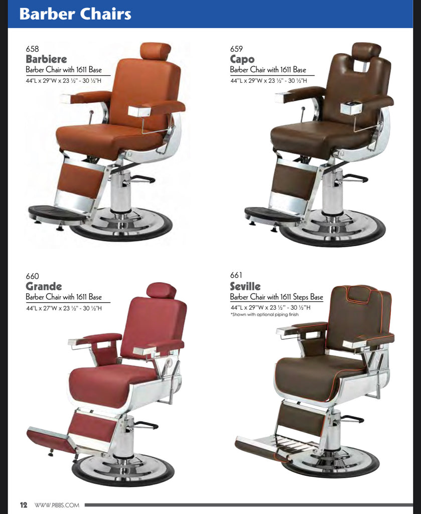 Pibbs Barber Chair - Seville 661