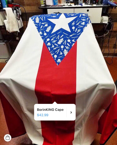 Image of King Midas Puerto Rico Flag Cape