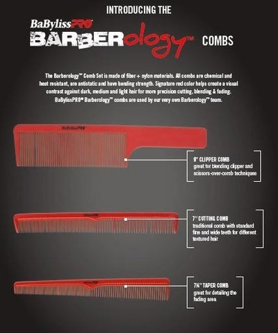 Image of Babyliss Comb Set (Barberology™ Comb Set)