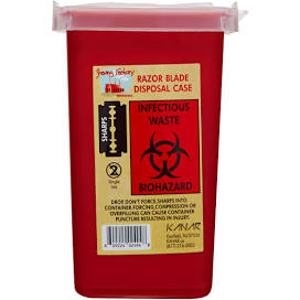 Razor Blade Disposal Case (Sharps Container)