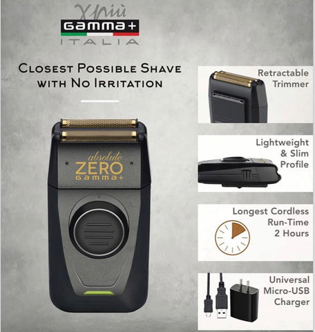 Image of Gamma + Absolute Zero Cordless Foil Shaver