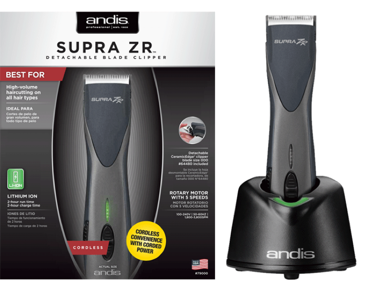 Andis Supra ZR Cordless Detachable Clipper