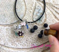 Flower Locket Aromatherapy Diffuser Necklace