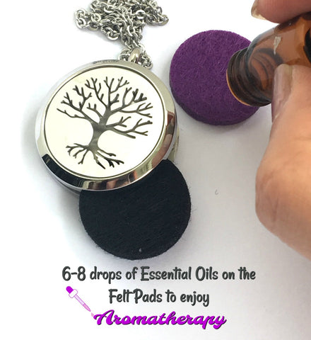 Aromatherapy Locket Essential Oil Diffuser Necklace