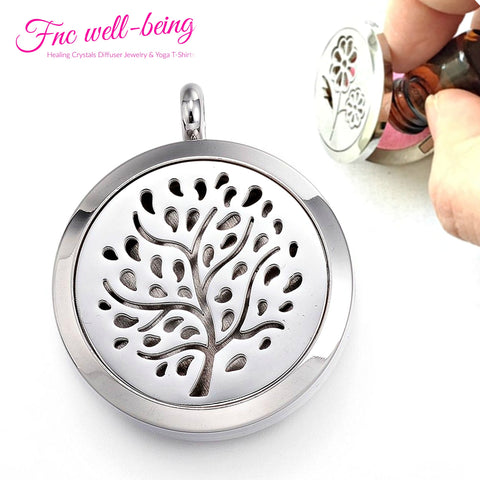 Aromatherapy Locket Essential Oil Diffuser Necklace NK16