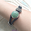Image of IB-01 Interchangeable 3-in-1 Gemstone Leather Cord Bracelet  Bracelet