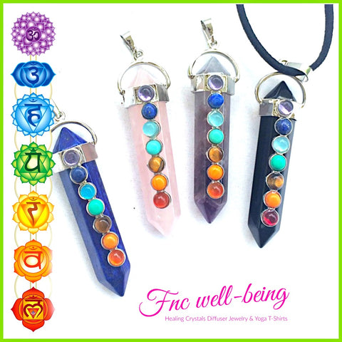 7 GEMSTONE CHAKRA Healing Crystal Necklace NK66