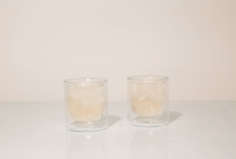 6 oz Double-Wall Clear Glass Set | YIELD