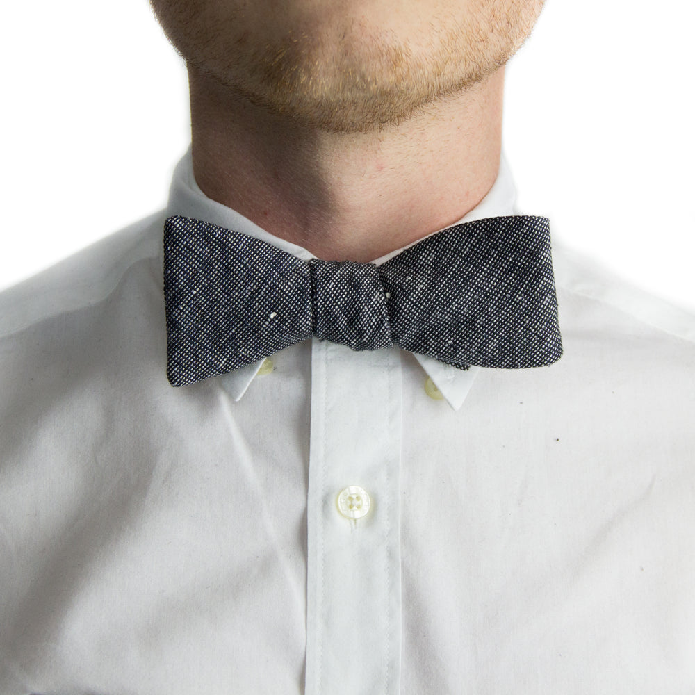Black + White Tweed Bowtie | Forth and Nomad