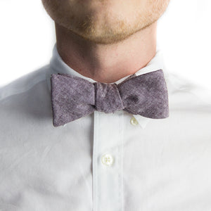 Eggplant Chambray Bowtie | Forth and Nomad