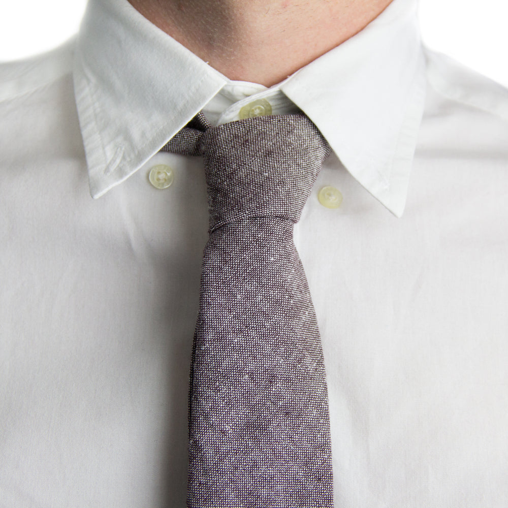 Eggplant Chambray Tie | Forth and Nomad