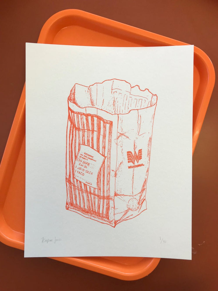 Whataburger Letterpress Print | Kaylan Smith Illustration