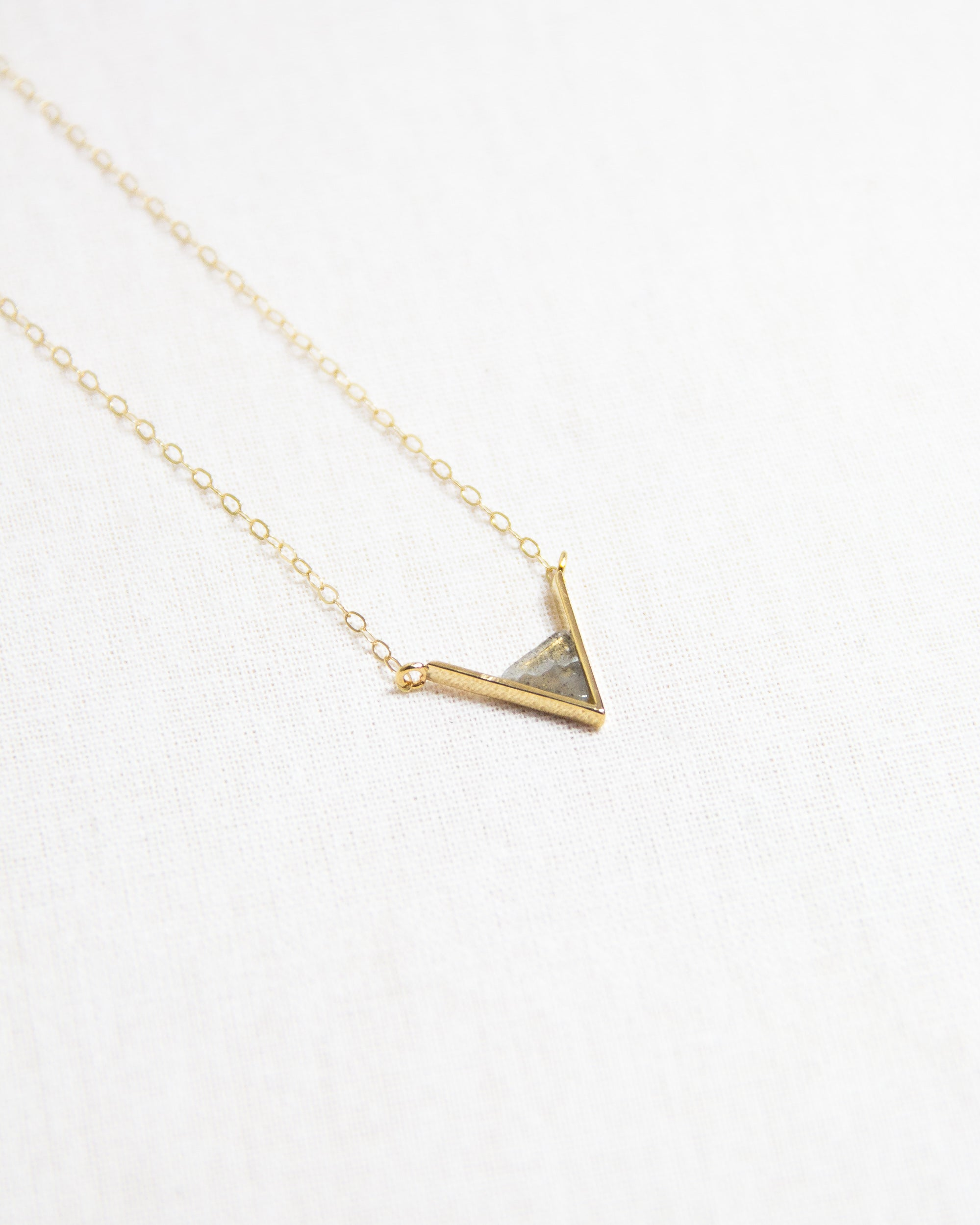 Labadorite Triangle Necklace