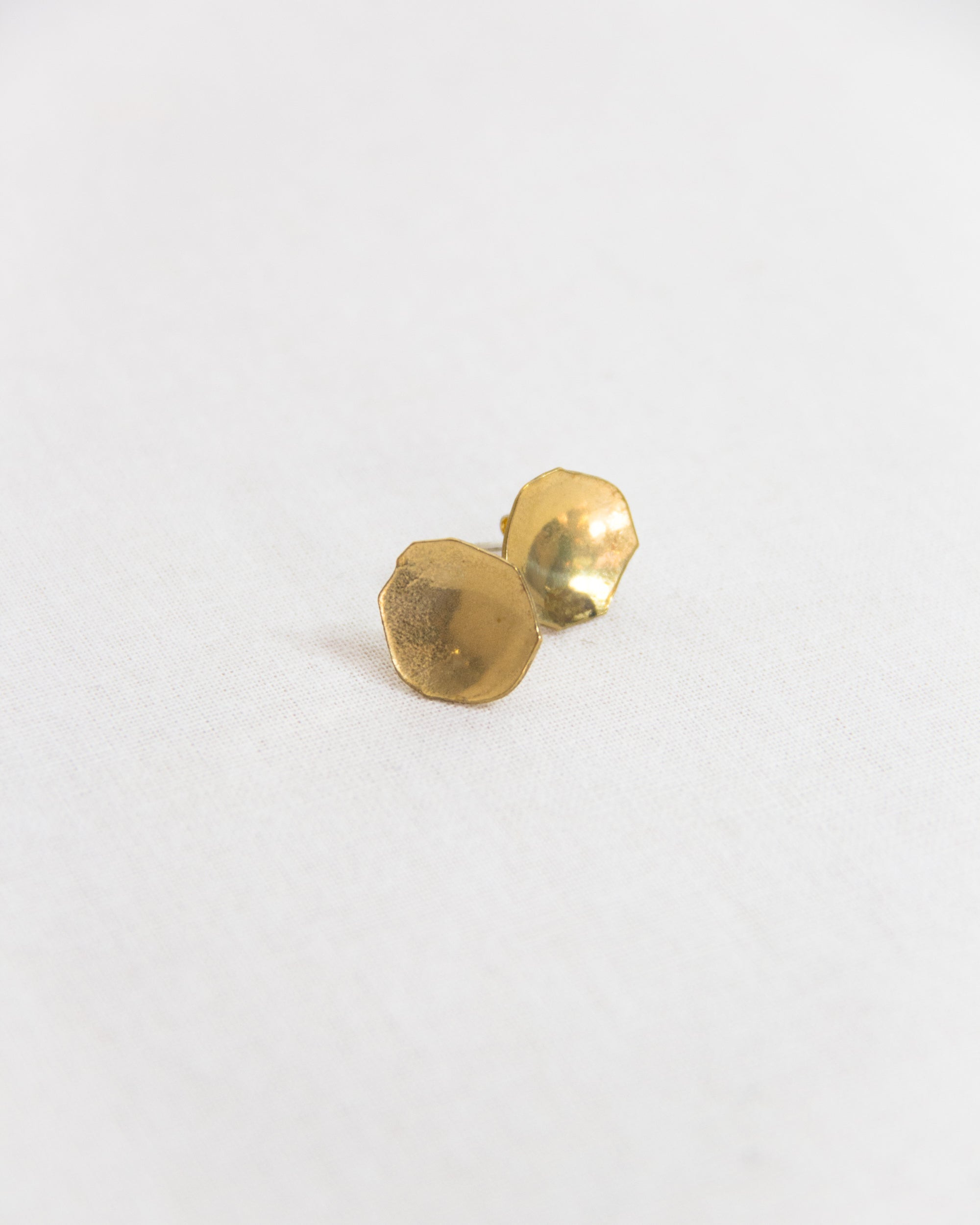 Rhiannon Stud Earrings Brass