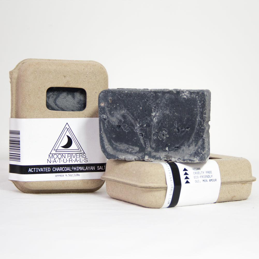 Activated Charcoal + Himalayan Pink Sea Salt Soap | Moon Rivers Naturals