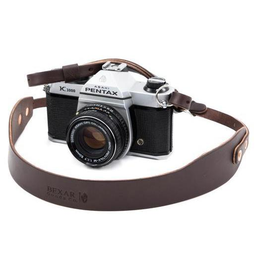 Vagabond Camera Strap | Dark Brown | BEXAR Goods Co.