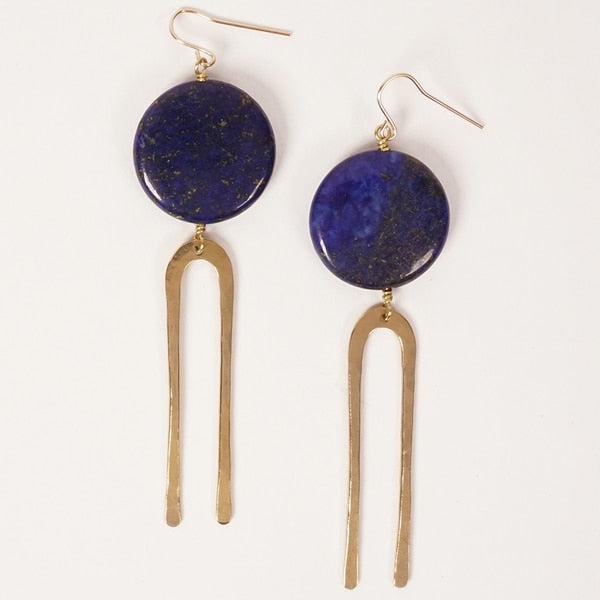 Frances Earrings | Bronze + Lapis | Son of a Sailor