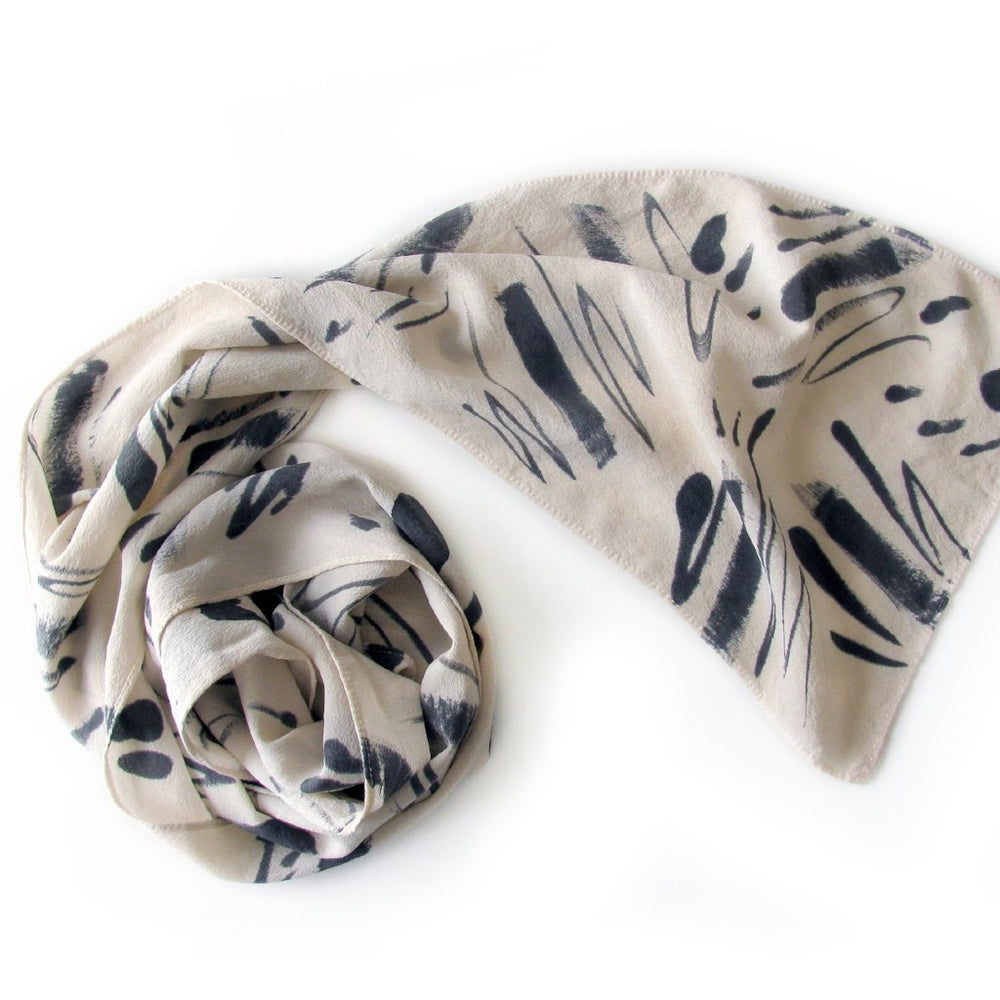 Abstract Expressionist Scarf | Kari Breitigam