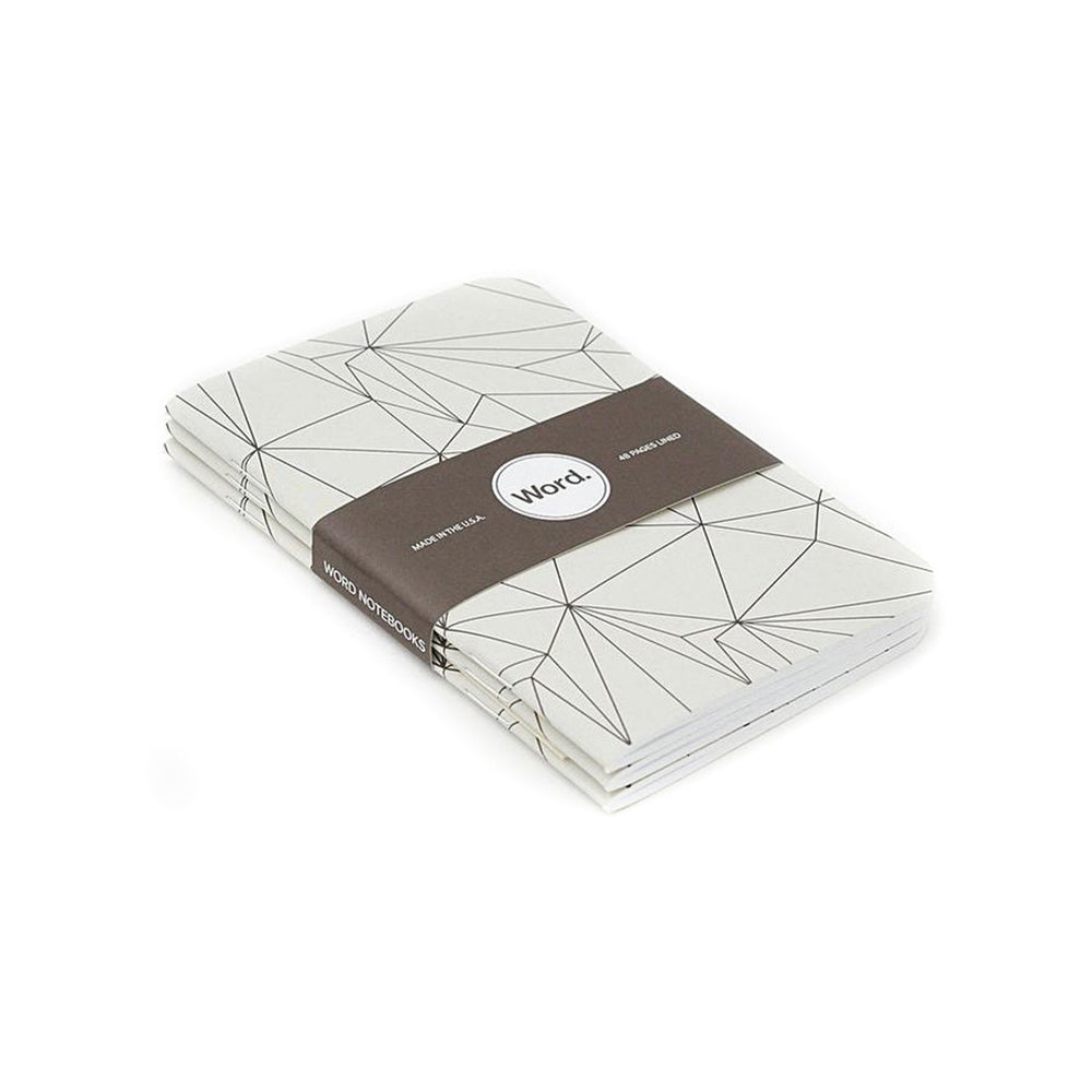Notebooks | Grey Polygon | Word. Notebooks
