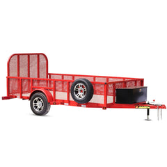 Image of 3500 LB. GVWR SINGLE AXLE INDUSTRIAL DUTY MESH SIDE UTILITY TRAILER