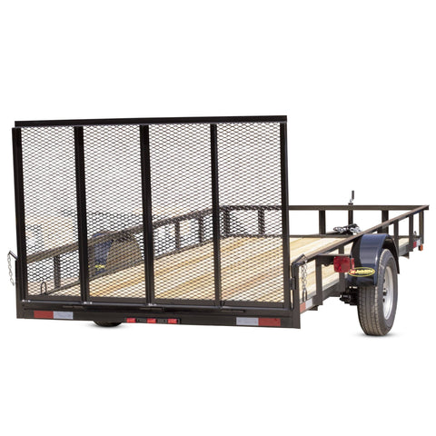 2990 GVWR SINGLE AXLE COMMERCIAL DUTY UTILITY TRAILER