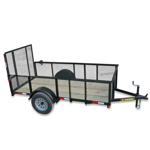 "2990 GVWR SINGLE AXLE RESIDENTIAL DUTY UTILITY TRAILER - 60"" x 10' - High Sides"