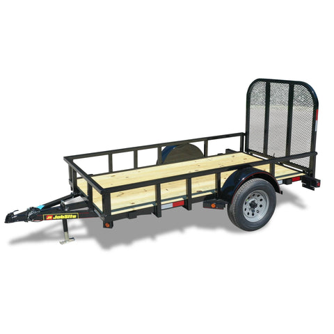 "2990 GVWR SINGLE AXLE INDUSTRIAL DUTY UTILITY TRAILER - 60"" x 10'"