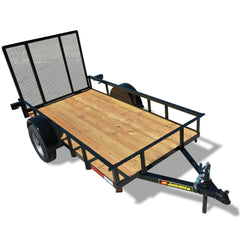 "2990 GVWR SINGLE AXLE RESIDENTIAL DUTY UTILITY TRAILER - 78"" x 12'"