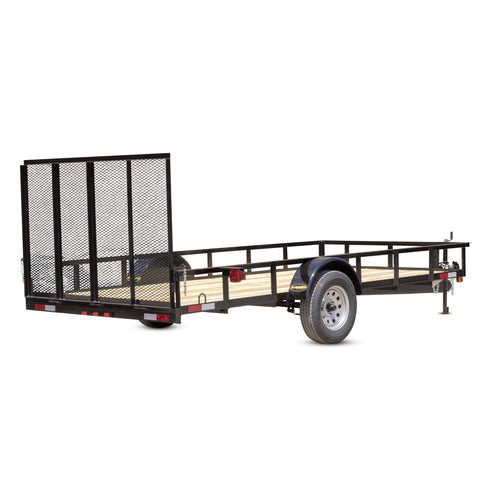 "2990 GVWR SINGLE AXLE RESIDENTIAL DUTY UTILITY TRAILER - 78"" x 14'"