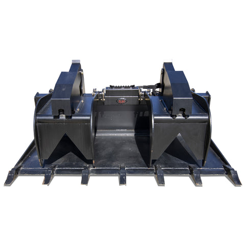 Grapple Bucket Skid Steer Attachment