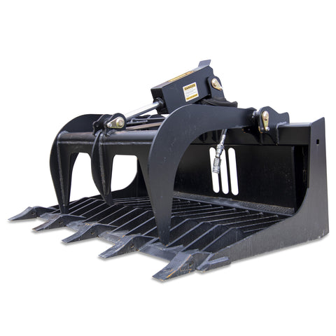 Rock Grapple w/Teeth  Skid Steer Attachment | 48""