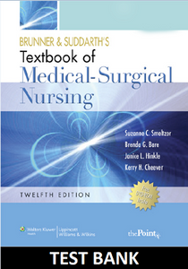 Brunner and suddarths textbook of medical surgical nursing test bank brunner and suddarths textbook of medical surgical nursing 12e test bank fandeluxe Image collections