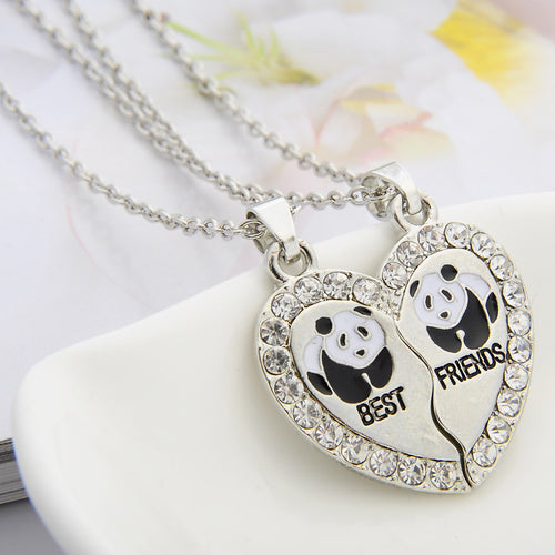 Panda Best Friends Necklace Set