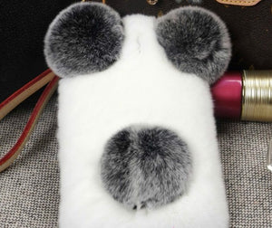 Furry Panda Phone Case For iPhone and Samsung